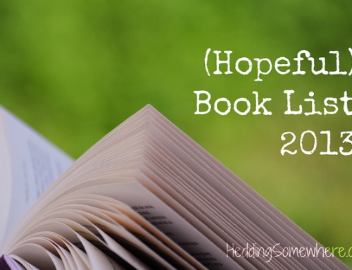 (Hopeful) Book List 2013: Year-end Update