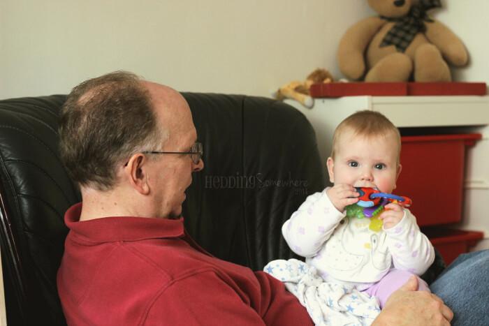 Grandpa and Eva Joy