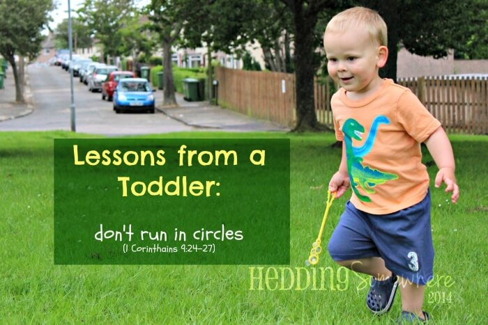 Oh Toddlers don't run in circles